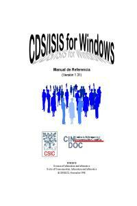 CDS/ISIS for windows: manual de referencia (versión 1.31)